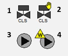 Рис. 12. Приклад зображення стану обладнання шляхом зміни видимості
