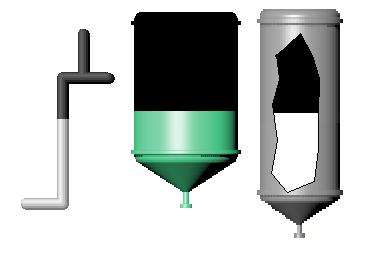 Рис. 13. Приклади використання вертикальної заливки